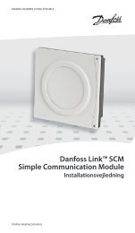 Danfoss Link™ SCM Simple Communication Module - Danfoss Varme