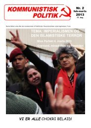 Klik for pdf - Kommunistisk Politik