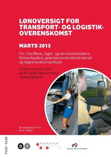 lønoversigt for transport- og logistik- overenskomst - DI