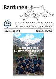 September 2005 - 123 kb. - 1. Birkerød Gruppe