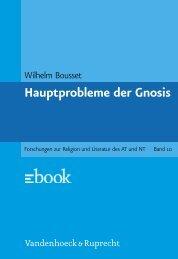 Hauptprobleme der Gnosis