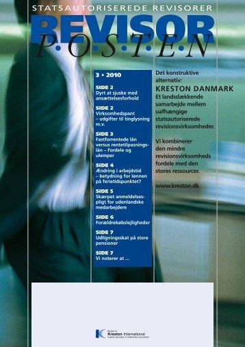 Revisorposten Nr. 3, 2010 - Kreston Danmark