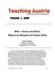 VOLUME 1, 2005 Wien – Kunst und Kitsch - Austrian Studies ...
