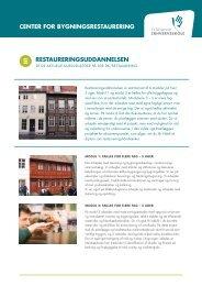 restaureringsuddannelsen - Dokumenter - Syddansk Erhvervsskole