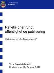 Refleksjoner rundt offentlighet og publisering - Norsk Arkivråd