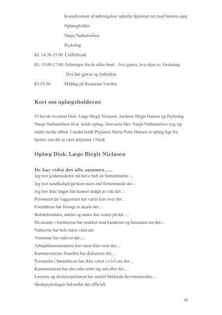 AFRAPPORTERING AF - Norsk fosterhjemsforening