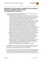Ejendomsret, samt principper for adgang til og anvendelse af ...