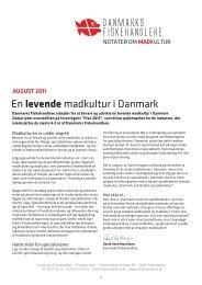 En levende madkultur i Danmark - Danmarks fiskehandlere