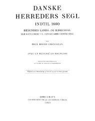 Poul Bredo Grandjean: Danske Herreders Segl - Genstandskundskab