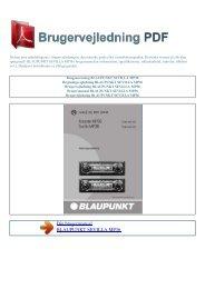 Brugsanvisning BLAUPUNKT SEVILLA MP36 - Brugervejledning