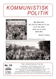 Kommunistisk Politik 15, 2005
