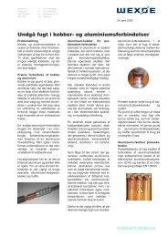 Undgå fugt i kobber- og aluminiumsforbindelser - Wexøe