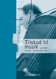 Tilskud til musik i perioden 1. januar