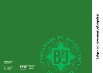Salgs- og leveringsbetingelser - Beck & Jørgensen