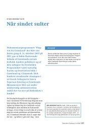 Når sindet sulter - Det grønlandske Selskab