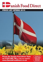PRICE LIST SPRING 2010 - Danish Food Direct