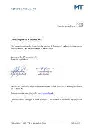 Delårsrapport for 3. kvartal 2003 - Monberg & Thorsen