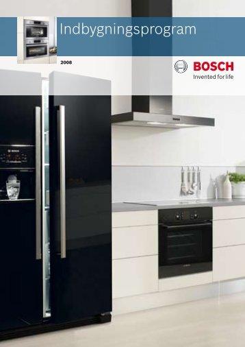 Indbygningsprogram - Bosch