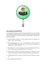 Beregning på heliumballon - matematikfysik