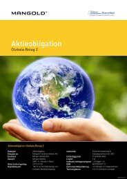 Aktieobligation Globala Bolag 2 - Mangold Fondkommission
