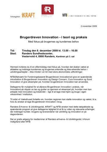Brugerdreven Innovation - i teori og praksis - Alexandra Instituttet