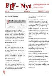 FLF Nyt April 2012 Årgang 10 - Nr. 36 FLF Bulletin Genopstår ...