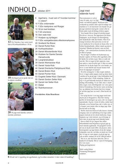 Oktober 2011.indd - Fællesrepræsentationen for Specialklubber for ...