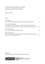 dansk musikforskning online danish musicology online vol. 2, 2011