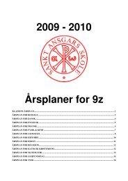 2009 - 2010 Årsplaner for 9z