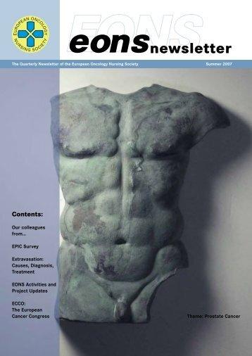 English - the European Oncology Nursing Society