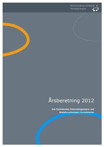Det Psykiatriske Patientklagenævn årsberetning ... - Statsforvaltningen