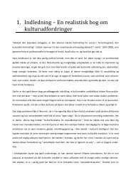 1. Indledning – En realistisk bog om kulturudfordringer