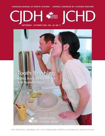 September/October, Volume 40, Number 5 - CDHA