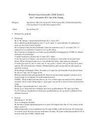 Referat bestyrelsesmøde i DKK Kreds 6, den 7. december 2011 hos ...