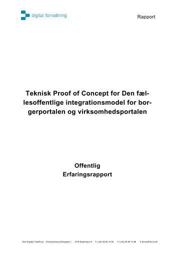 Teknisk Proof of Concept for Den fæl- lesoffentlige ...