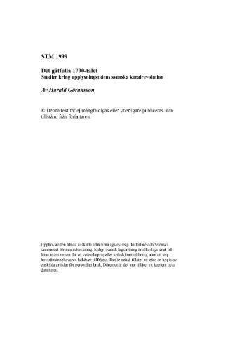 Harald Göransson - Svenska samfundet för musikforskning