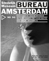 BA Nieuwsbrief 90 - Stedelijk Museum Bureau Amsterdam