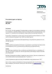 Nyhedsbrev 1 - Procesteknologisk overvågning Maj 2009