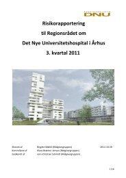 Risikorapportering - 3. kvartal 2011 - DNU - Region Midtjylland