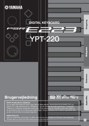 PSR-E223/YPT-220 Owner's Manual - Yamaha Downloads