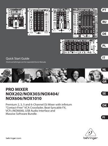 pro mixer nox202/nox303/nox404/nox606/nox1010 - Strumenti ...