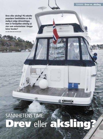 Båtlivs test fra 2012 - Drev eller aksling? - Viksund Boat AS