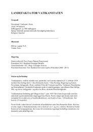 Landefakta Vatikanet (pdf) - Schweiz