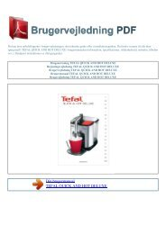 Brugsanvisning TEFAL QUICK AND HOT DELUXE