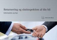 Returnering og slutinspektion af din bil - Mercedes-Benz Danmark