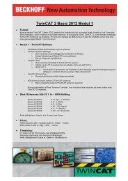 TwinCAT 2 Basic 2012 Modul 1 - Beckhoff