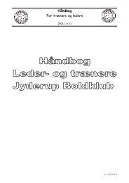 Håndbog For trænere og ledere - Jyderup Boldklub
