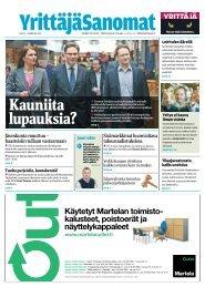 YrittäjäSanomat 2/2011 - Suomen Yrittäjät