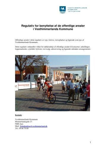 Regulativ for benyttelse af de offentlige arealer i Vesthimmerlands ...
