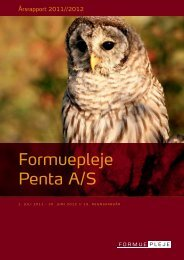 Formuepleje Penta A/S Årsrapport 2011/2012